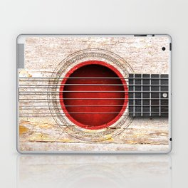 Old Vintage Acoustic Guitar with Japanese Flag Laptop & iPad Skin