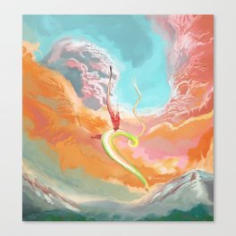 Fantasy Dragon and Clouds Canvas Print