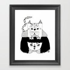 mew Framed Art Print