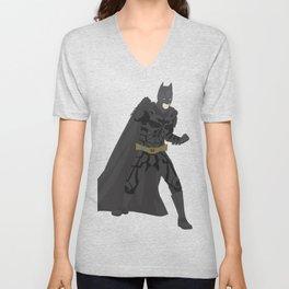 Bat man (The Dark Knight)(Vector Art) Unisex V-Neck