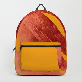Green Fern on Red On Fire Backpack