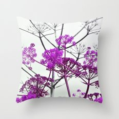 WILDFLOWERS in RED Throw Pillow
