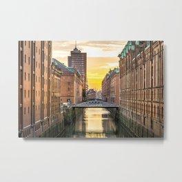 The Speicherstadt (Hamburg, Germany) Metal Print