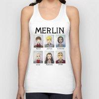 merlin Tank Tops featuring MERLIN by Space Bat designs