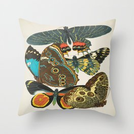 EA Seguy Papillons Vintage Scientific Insect Butterfly Biological  Species Anatomy Illustration Throw Pillow