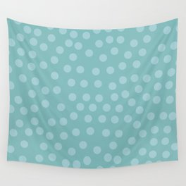 Self-love dots - Turquoise Wall Tapestry