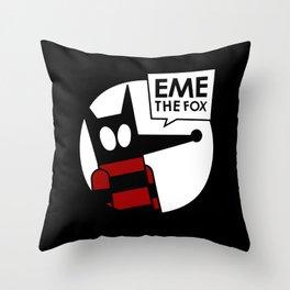 Eme - Black Throw Pillow