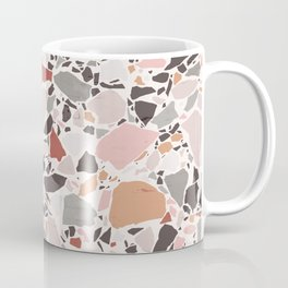 Neutral Terrazzo / Earth Tone Abstraction Coffee Mug