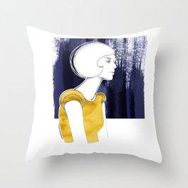 Irma Gold Throw Pillow