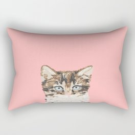 Kitten cutest pastel gift for valentines day cat pet friendly furry friend fur baby kittens animal Rectangular Pillow