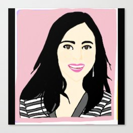 Knock Knock! Mina Pink Canvas Print
