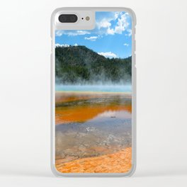 Grand Prismatic Pool - Yellowstone National Park, Wyoming Clear iPhone Case