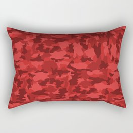 Red Background Camouflage Pattern Rectangular Pillow