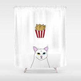 Fat D. Loves Fries Shower Curtain