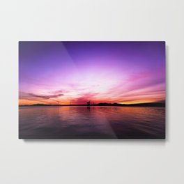 Sunset over the Firth of Clyde Metal Print