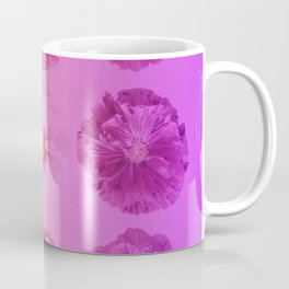 Purple Gradient Flower Grid Coffee Mug