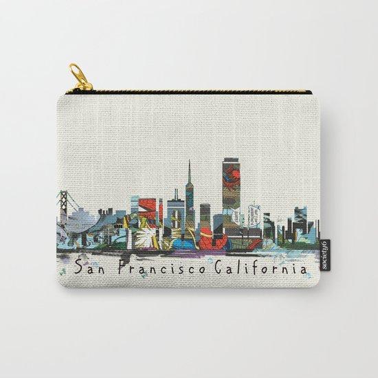 san francisco skyline comic Carry-All Pouch