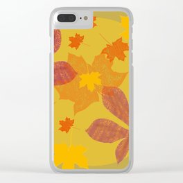 Leaves are falling Clear iPhone Case