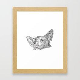 Mitzi takes it easy Framed Art Print