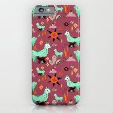 Llama At Dusk pattern iPhone 6s Slim Case