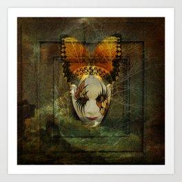 Surrealistic Venetian Mask Art Print