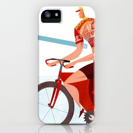 Bicycle Tour de France Tandem for Three iPhone Case