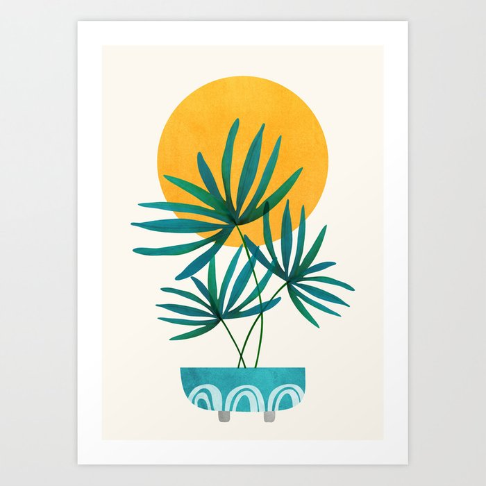 Little Palm + Sunshine Art Print