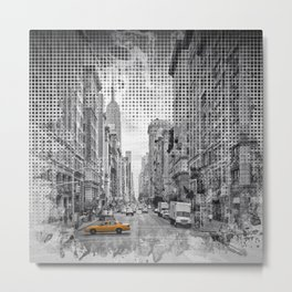 Graphic Art NEW YORK CITY 5th Avenue Metal Print