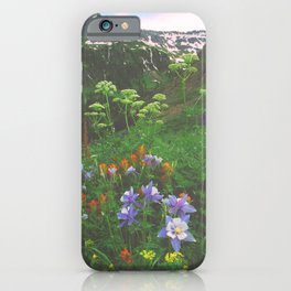 Wildflowers, Yankee Boy Basin above Ouray, Colorado iPhone Case