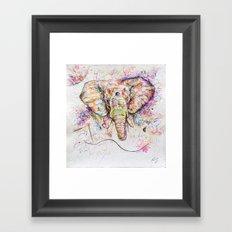 Elephant // Sananga Framed Art Print
