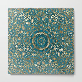 Moroccan Style Mandala Metal Print