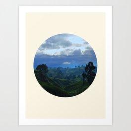 Rolling Hills Circle Photo Frame Art Print