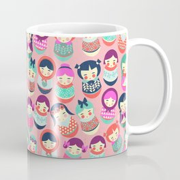 Babushka Russian doll pattern Coffee Mug