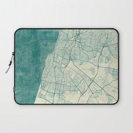 Tel Aviv Map Blue Vintage Laptop Sleeve