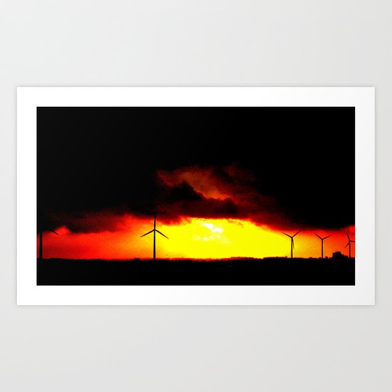 wind and fire. Art Print