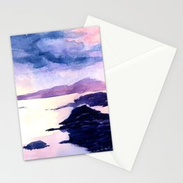 Watercolour Landscape Scotland Loch Lomond Stationery Cards