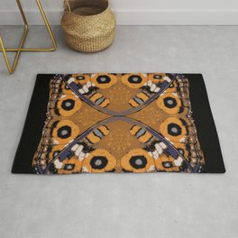 Meadow Argus Butterfly design by Chrissy Wild Junonia villida calybe  Rug