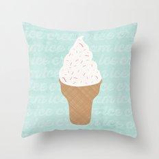 ICE CREAM CONE Throw Pillow