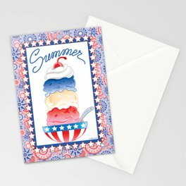 Summer Sundae Stationery Cards