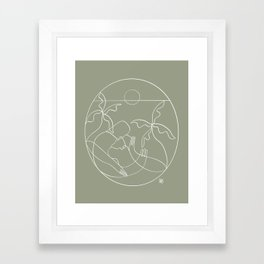 Dreamers no.5 (sage) Framed Art Print
