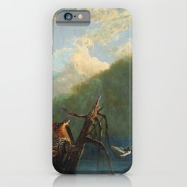 Old Man in the Mountain, White Mountains, New Hampshire landscape painting by Thomas Hill iPhone Case