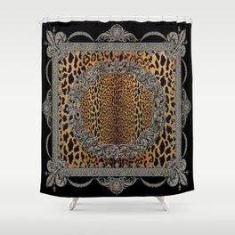Baroque Leopard Scarf Shower Curtain