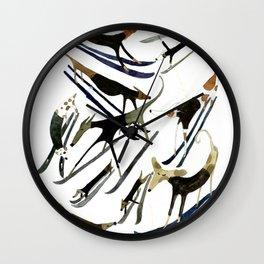 Beatnik Dogs Skiing Wall Clock