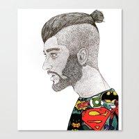 zayn malik Canvas Prints featuring Zayn Malik by LizzMartinez