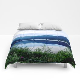 Beautiful Mountain side Comforters
