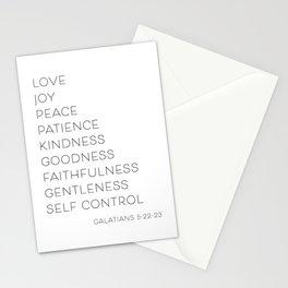 Love Joy Peace Patience Kindness Goodness Faithfulness… -Galatians 5:22-23 Stationery Cards