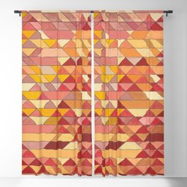 Triangle Pattern no.4 Warm Colors Red and Yellow Blackout Curtain