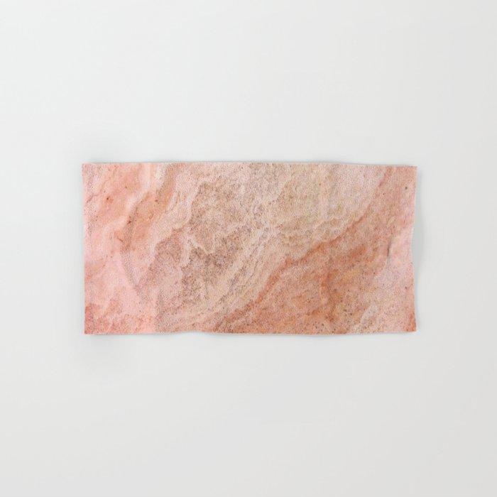 Polished Rose Gold Marble Hand & Bath Towel