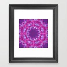 Pink Lace Kaleidoscope Framed Art Print