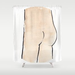 Butt Shower Curtain
